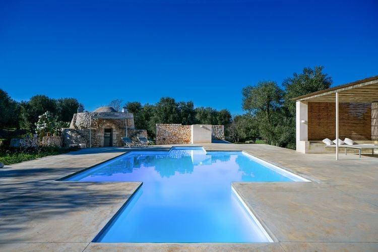 Vakantiehuizen Italie | Puglia | Villa te huur in Carovigno met zwembad  met wifi 6 personen