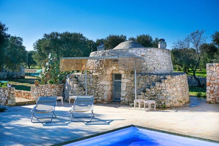 Puglia Villas te huur Comfortabele villa op het platteland met privé zwembad