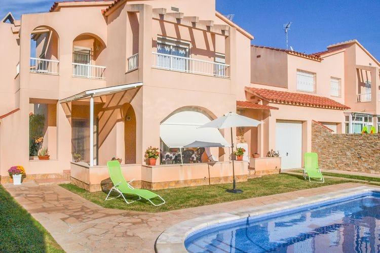 Costa Dorada Vakantiewoningen te huur Vakantiehuis voor 10 personen met privézwembad op slechts 1400 m van het strand