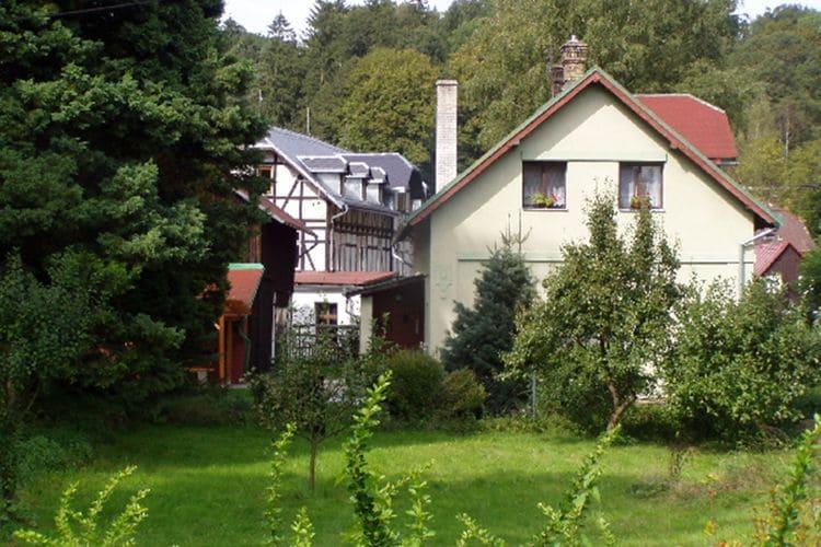 Jetřichovice Vakantiewoningen te huur Palyer huis met 5 slaapkamers en een open haard in het Tsjechische Zwitserland