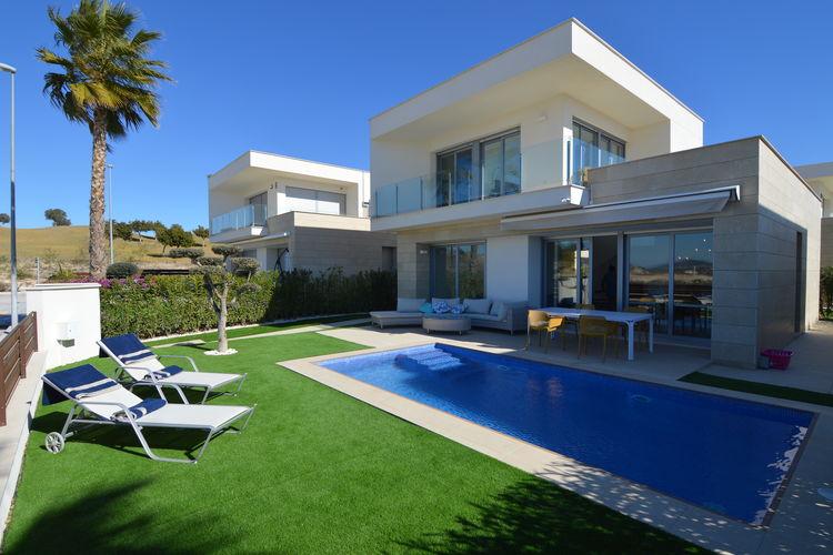 Spanje | Costa-Blanca | Villa te huur in Orihuela met zwembad  met wifi 8 personen