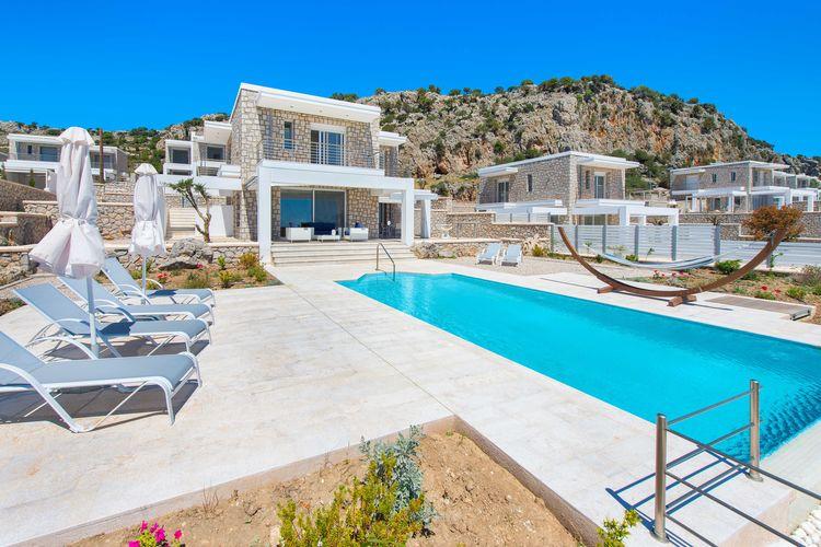 Villa met zwembad met wifi  Kalythies  Prachtige nieuwe luxe villa bij de kust, mooi zwembad, prachtig uitzicht, Rhodos