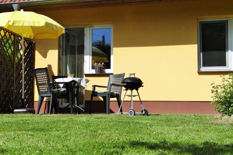 Gezellige appartement op Usedom direct aan een meer