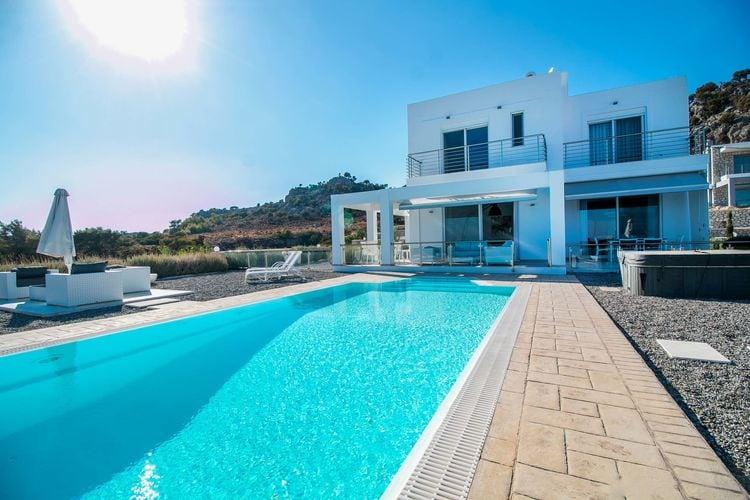 Griekenland | Rhodos | Villa te huur in Kalythies met zwembad  met wifi 6 personen