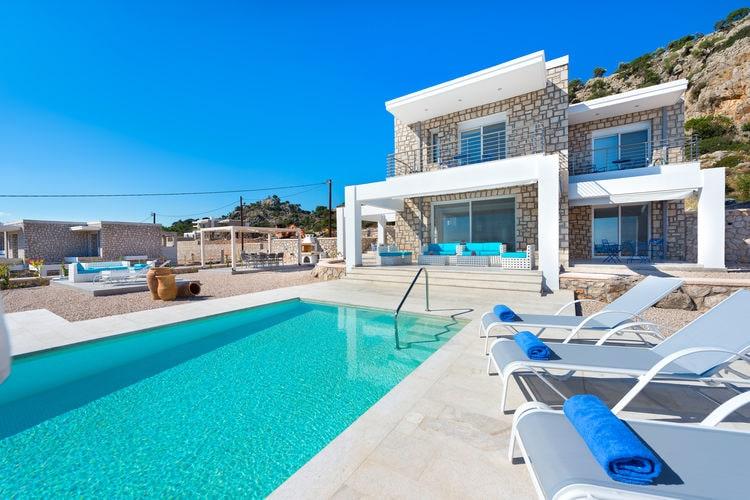 Griekenland | Rhodos | Villa te huur in Kalythies met zwembad  met wifi 8 personen