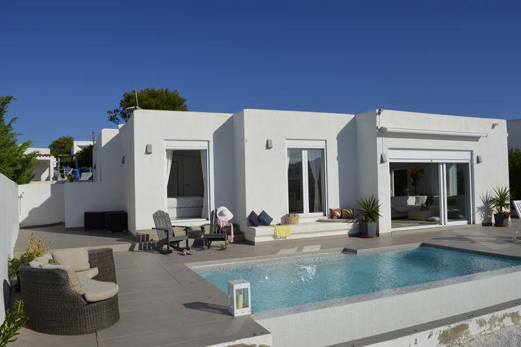 Spanje | Ibiza | Villa te huur in San-Jose met zwembad  met wifi 6 personen