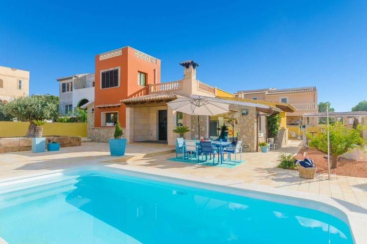 Vakantiehuizen Badia-Gran-Illes-Balears te huur Badia-Gran,-Illes-Balears- ES-00011-29 met zwembad  met wifi te huur