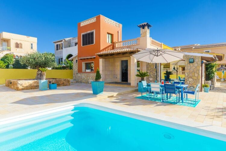 Vakantiehuizen Spanje | Mallorca | Villa te huur in Badia-Gran-Illes-Balears met zwembad  met wifi 6 personen