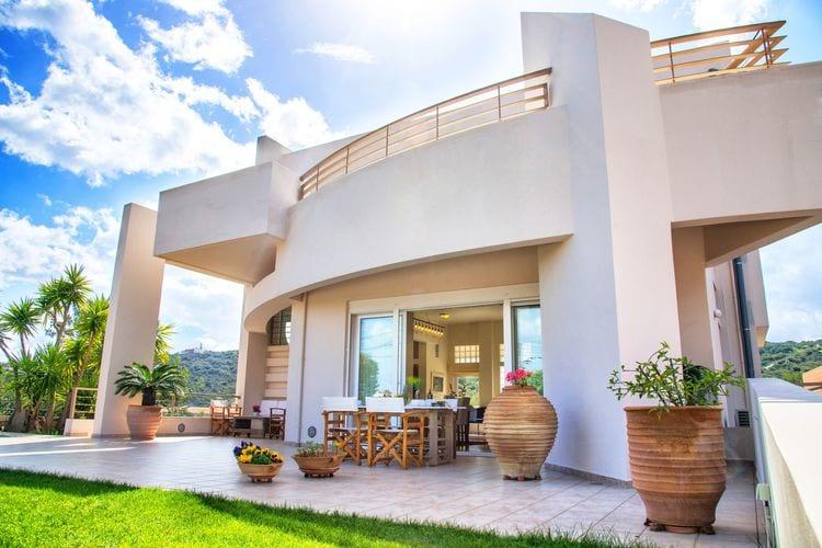 Griekenland | Kreta | Villa te huur in Agios-Nikolaos   met wifi 8 personen