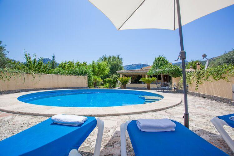 Vakantiehuizen Pollensa-Illes-Balears te huur Pollensa,-Illes-Balears- ES-00012-34 met zwembad  met wifi te huur
