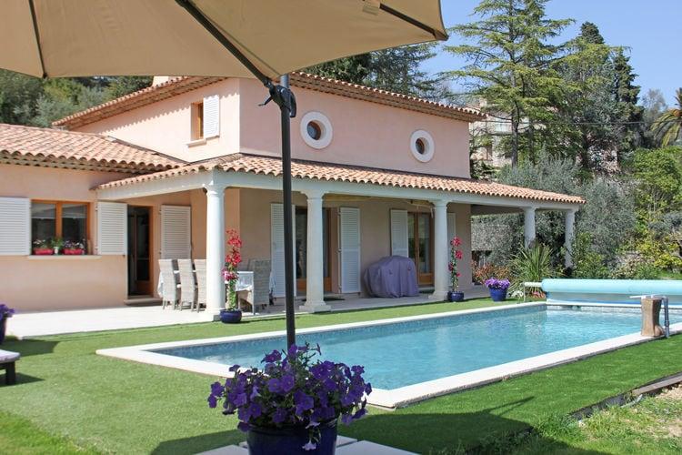 Grasse Vakantiewoningen te huur Luxe Mediterrane villa met privézwembad, op prachtige bekende Domaine Malbosc.