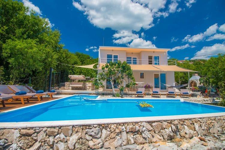 Vakantiehuizen Kroatie | Kvarner | Villa te huur in Crikvenica met zwembad  met wifi 8 personen