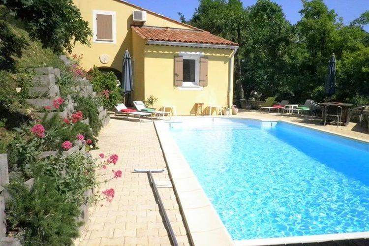 Villas Frankrijk | Drome | Villa te huur in Saint-Paul-trois-Chateaux met zwembad  met wifi 6 personen