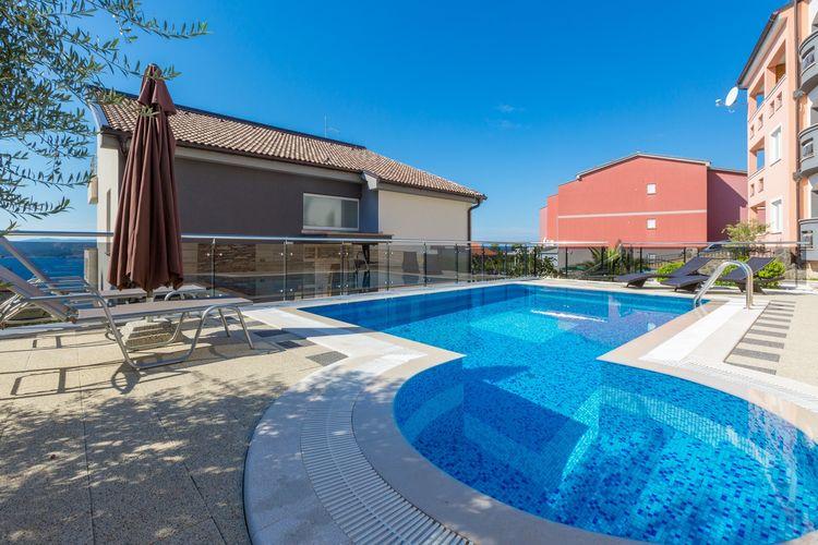 Vakantiehuizen Kroatie | Kvarner | Appartement te huur in Crikvenica met zwembad  met wifi 2 personen