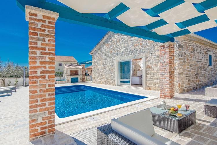 Villa Kroatië, Dalmatie, Sukosan Villa HR-00011-19
