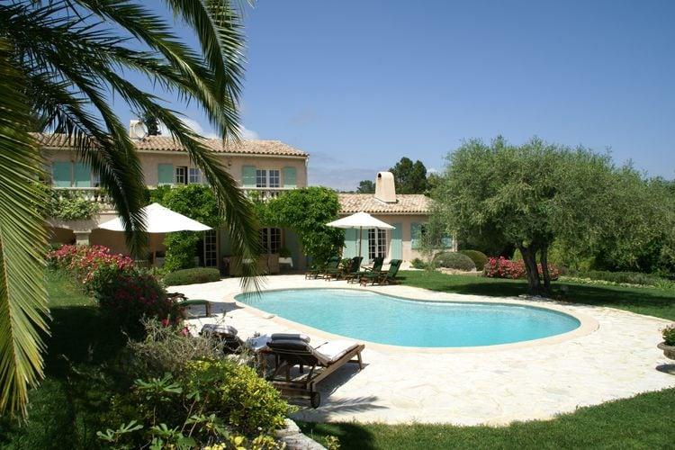 Valbonne Vakantiewoningen te huur Prachtige villa met verwarmd zwembad, airco en grote omheinde tuin met privacy.