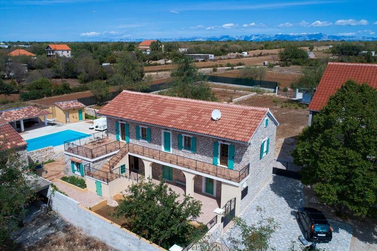 Kroatie | Dalmatie | Villa te huur in Gorica met zwembad  met wifi 10 personen