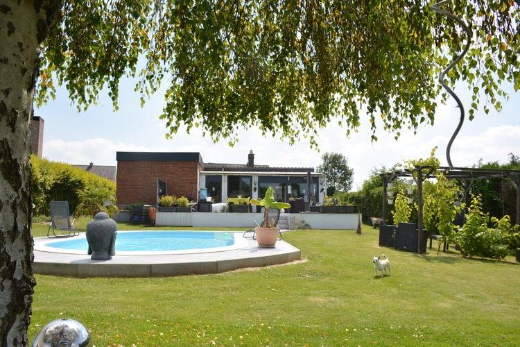 Henegouwen Villas te huur Huis gelijkvloers met prachtig verwarmd zwembad en terras, niet ver van Bergen