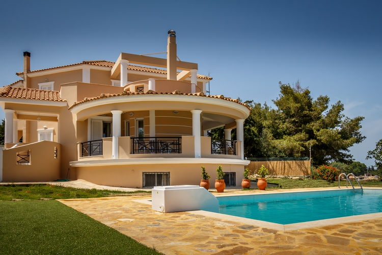 Griekenland | Grzak | Villa te huur in Zakynthos met zwembad  met wifi 10 personen