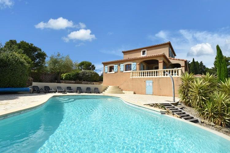 Villa met zwembad met wifi  Montbrun-des-Corbières  Villa met verwarmd zwembad, jacuzzi, sportveld en schitterend uitzicht