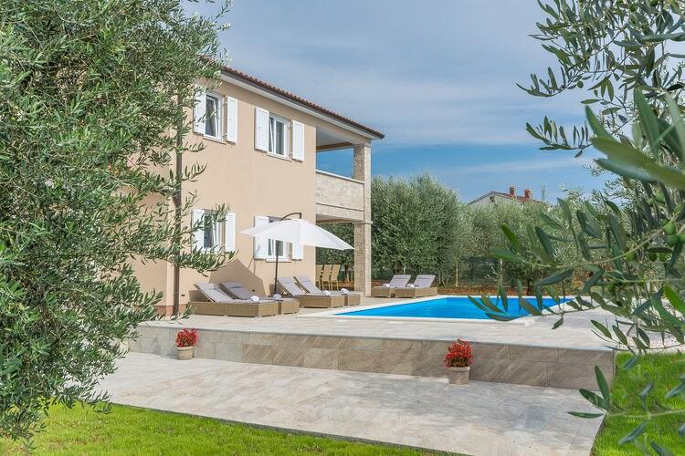 Villa Kroatië, Istrie, Sveti Lovrec Villa HR-52448-53