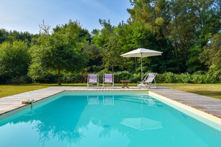 Frankrijk | Cote-Atlantique | Vakantiehuis te huur in Sainte-Eulalie-en-Born met zwembad  met wifi 3 personen