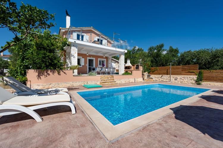 Griekenland | Grzak | Villa te huur in Akynthos met zwembad  met wifi 7 personen