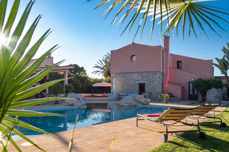 Italie | Sicilia | Villa te huur in Buseto-Palizzolo met zwembad  met wifi 15 personen