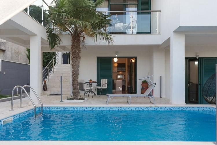 Kroatie | Dalmatie | Villa te huur in Kastel-Stafilic met zwembad  met wifi 13 personen