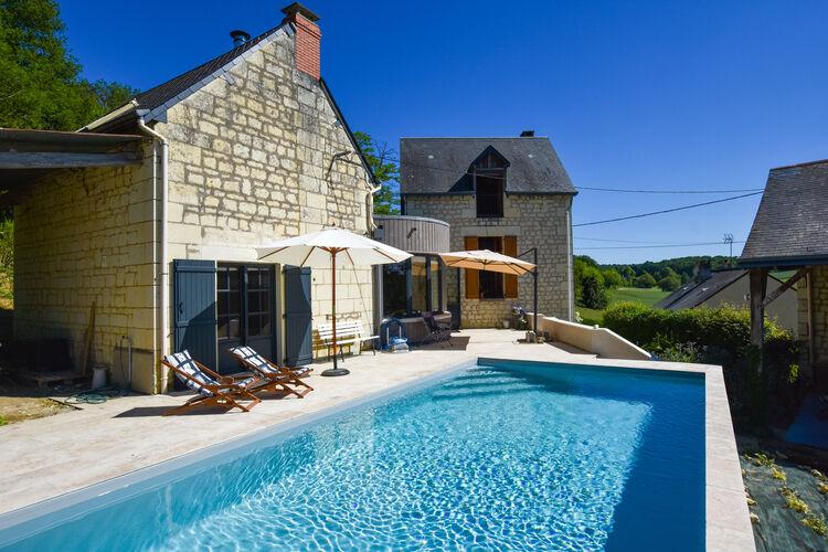Frankrijk | Pays-de-la-loire | Vakantiehuis te huur in Thizay met zwembad  met wifi 6 personen
