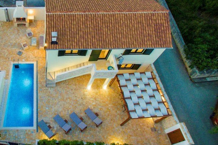 Kroatie | Dalmatie | Villa te huur in Vinjerac met zwembad  met wifi 6 personen