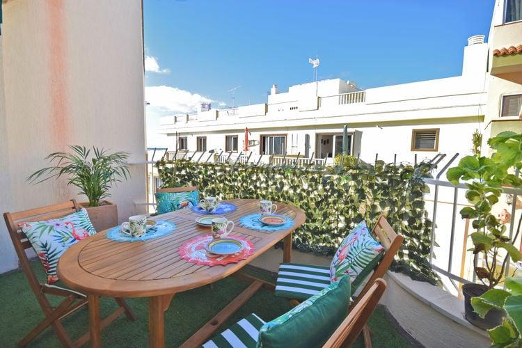 Spanje | Trfe | Appartement te huur in Los-Cristianos   met wifi 4 personen