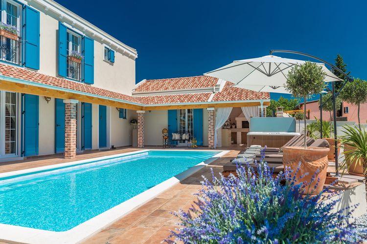 Kroatie | Dalmatie | Villa te huur in Pridraga met zwembad  met wifi 8 personen