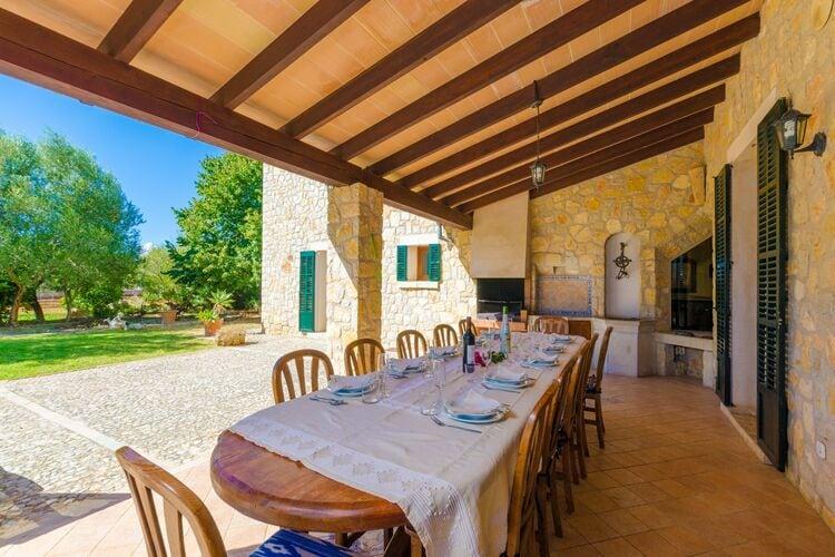 Vakantiehuizen Spanje | Mallorca | Villa te huur in Lloseta-Illes-Balears met zwembad  met wifi 9 personen