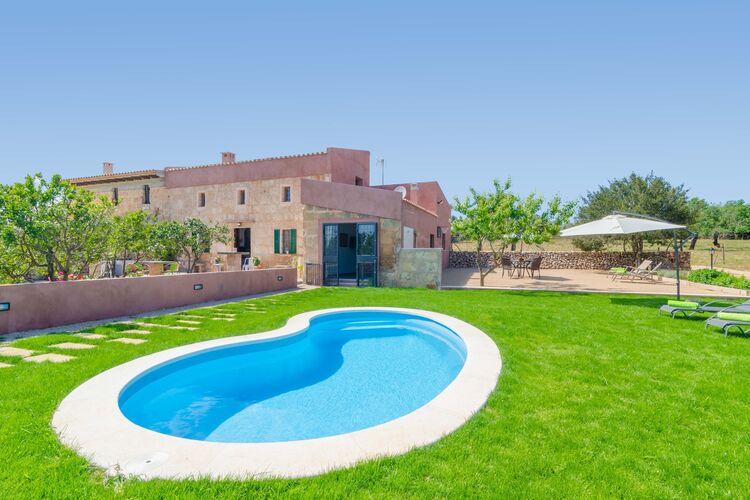 Spanje | Mallorca | Villa te huur in Ariany-Illes-Balears met zwembad  met wifi 6 personen