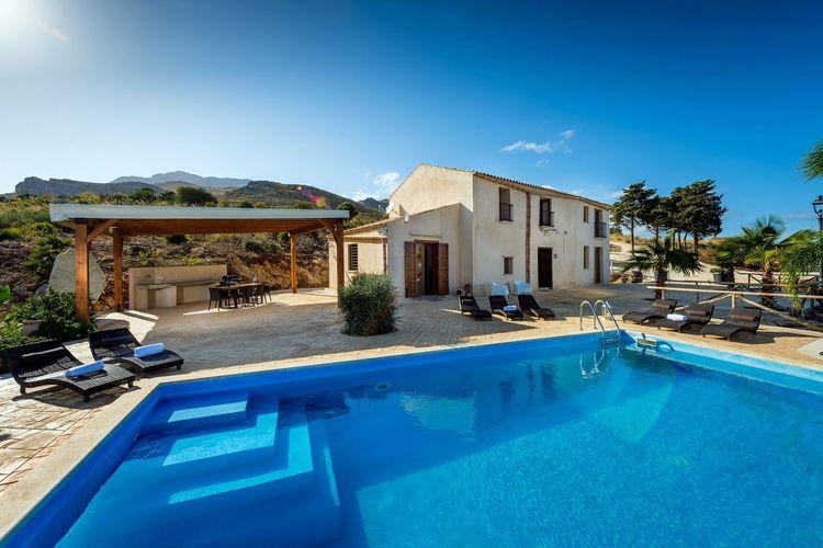 Vakantiehuizen Italie   Sicilia   Villa te huur in Scopello met zwembad  met wifi 10 personen