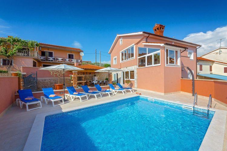 Kastelir Vakantiewoningen te huur Luxe ingerichte villa met privé zwembad, sauna en jacuzzi voor acht personen