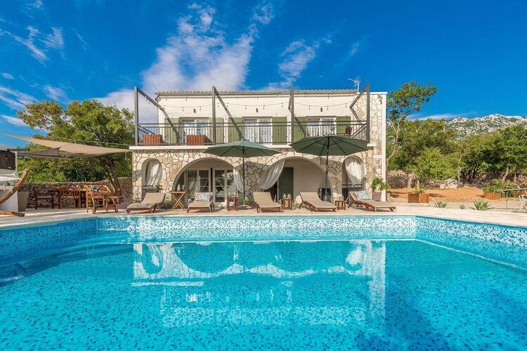 Vakantiehuizen Kroatie | Kvarner | Villa te huur in Stinica met zwembad  met wifi 8 personen
