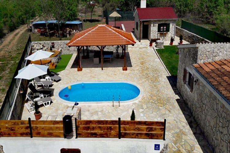 vakantiehuis Kroatië, Dalmatie, Zemunik Gornji vakantiehuis HR-00014-51