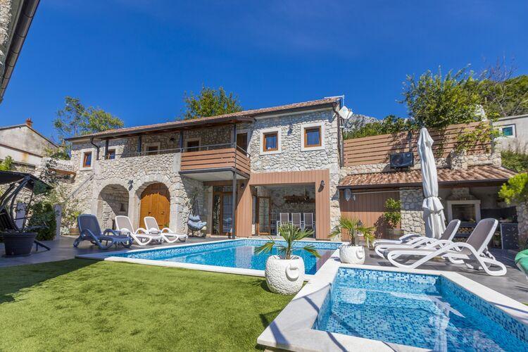 Woning Kroatie | Kvarner | Vakantiehuis te huur in Crikvenica met zwembad  met wifi 7 personen