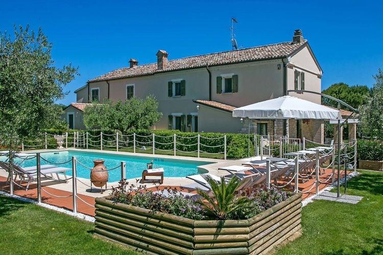 Italie | Marche | Villa te huur in Fano   met wifi 12 personen