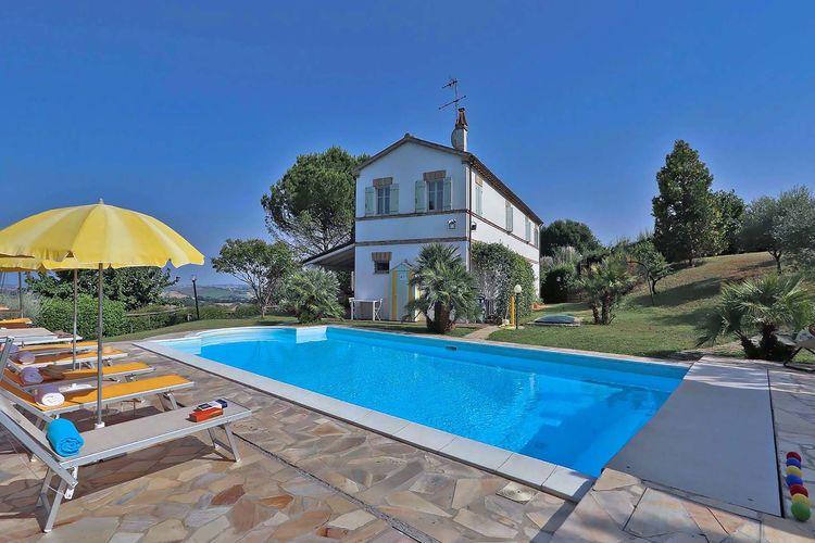 Italie | Marche | Villa te huur in Corinaldo met zwembad  met wifi 9 personen