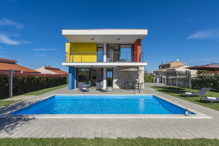 Kroatie | Istrie | Villa te huur in Porec met zwembad  met wifi 6 personen