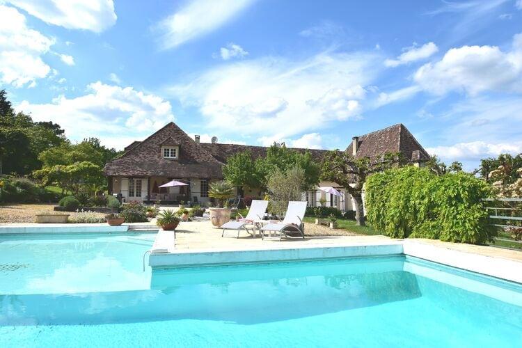 Vakantiehuis met zwembad met wifi  DordogneBelle Villa 16 pers Piscine