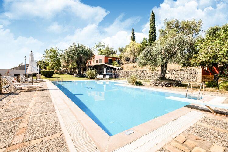 Vakantiehuizen Griekenland | Corfu | Appartement te huur in Paleokastritsa-Corfu met zwembad  met wifi 5 personen