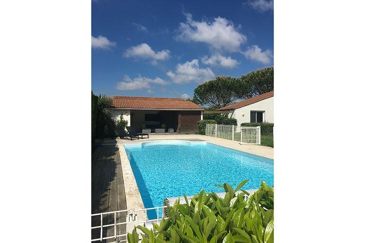 Vakantiehuizen Frankrijk | Cote-Atlantique | Villa te huur in Brives-sur-Charente met zwembad  met wifi 8 personen