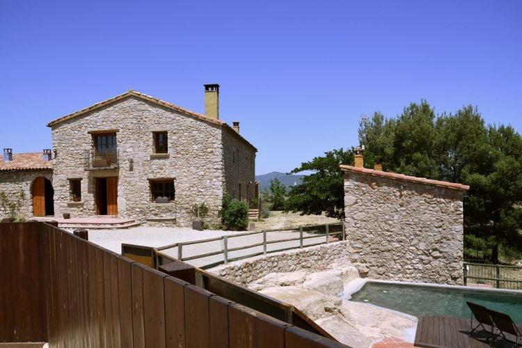 Spanje | Costa-de-Barcelona | Boerderij te huur in Sant-pau-de-la-Guardia-El-Bruc met zwembad  met wifi 12 personen