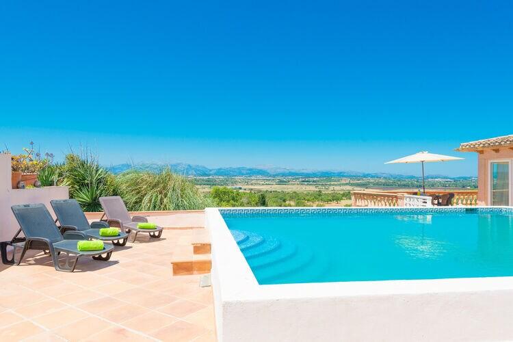 Spanje | Mallorca | Villa te huur in Ariany-Illes-Balears met zwembad  met wifi 10 personen
