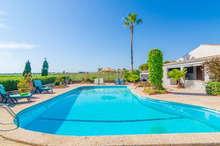 Vakantiehuizen Spanje | Mallorca | Villa te huur in Sa-Rapita-Illes-Balears met zwembad  met wifi 6 personen