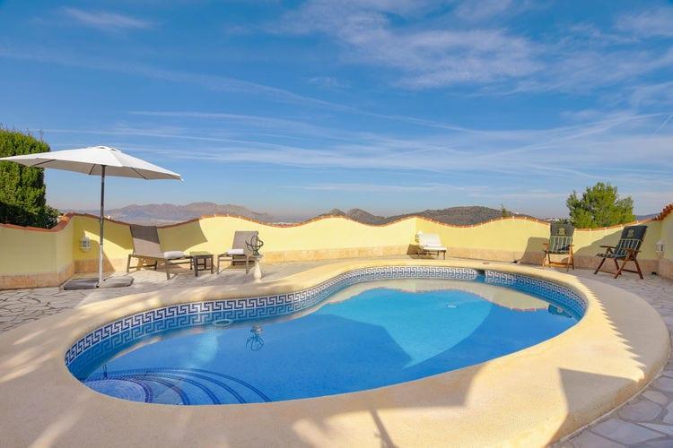 Spanje | Costa-Blanca | Vakantiehuis te huur in Pedreguer met zwembad  met wifi 6 personen